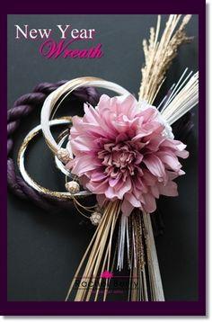 created in lesson--New Year Wreath 年内ラストレッスン! ~ダリアのしめ飾り~|Rachel Berry the Secret Attic