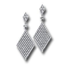 Double Sided Double Diamond Dangle Earrings #jewelry #finejewelry #diamonds #earrings #luxury #MartinKatz #MartinKatzJewels