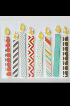 Birthday candles made with paper scraps