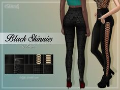 Trillyke: Black Skinnies • Sims 4 Downloads