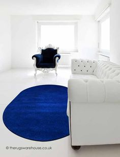 Home Comfort Plain Navy Oval Wool Rug Blue Rugs, Oval Rugs, Home Comforts, Wool Rug, Kids Rugs, Interior, Color, Home Decor, Decoration Home