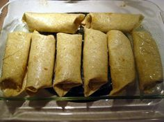 Ground Beef Chimichangas These were so yummy with some Guacamole and easy :)