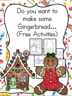 Preschool or Kindergarten Activity: Gingerbread Man cutout template and lesson plan to go along with a Gingerbread Man book.