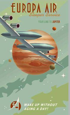 14 Cool Retro Sci-Fi Travel Posters