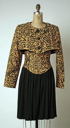 Geoffrey Beene fall/winter 1987–88 Culture: American Medium: (a) silk, wool, cotton; (b) silk; (c, d) leather