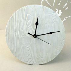 Wood texture Ceramic Clock.