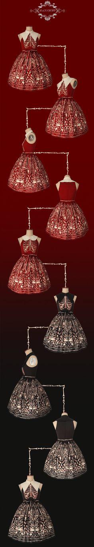 Rainbowy -The Medical Student- Halloween Themed Gothic Lolita Jumper Dress
