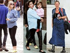 Denim deluxe! From Sienna Miller and Kourtney Kardashian to Uma Thurman, expectant mamas are strutting their stuff (and bumps!) in casual chambray button-down tops.