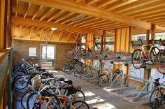 Serious bike parking facilities at Portland State University. Bicycle Garage, Bicycle Rack, Bike Shed, Bike Storage Room, Garage Storage, Vertical Bike Rack, Hub Home, Plaza Design, Portland State University