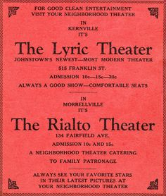 Vintage Johnstown: The Rialto