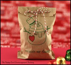 The Happy Card Encouragement Factory: Kids Easy Christmas Treat Bag Christmas Stall Ideas, Christmas Treat Bags, Easy Christmas Treats, Holiday Treats, Christmas Holidays, Christmas Crafts, Merry Christmas, Candy Grams, Card Factory