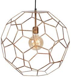 """Marrakesh Pendant Light It's About Romi lighting; """"We love simple yet strong design in pure materials"""" Taylors Etc love this brand for it's . Copper Pendant Lights, Wire Pendant, Globe Pendant, It's About Romi, Marrakesh, Urban Look, Suspension Metal, Hexagon Shape, Luxury Homes Interior"""