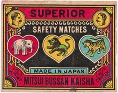 Japanese vintage match boxes