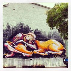 "Too nice not to share - a wall mural entitled ""Life is short - hug your donkey"" from Australia. So true ..."