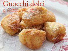 Gnocchi dolci di patate e ricotta:semplice e sfiziosa ricetta di Carnevale. Morbidissimi, golosi, dolci al punto giusto, leggermente dorati ideale a merenda