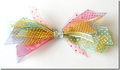 Ribbon scrap bow! How cute :)