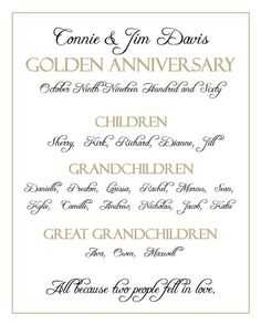 Wedding invitations for a 50th wedding anniversary 50th wedding reserved for lradam417 anniversary typography 8x10 print 50th wedding anniversaryanniversary ideasparents stopboris Image collections