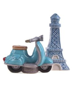 Spice up the dining table with these salt and pepper shakers shaped like iconic Paris sights for foreign flair.