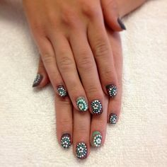 I'd have to get MUCH better at using the dotting tool on my right hand... but worth a try!