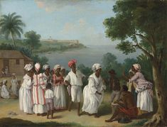 View A negroes dance in the island of Dominica, Fort Young beyond by Agostino Brunias on artnet. Browse upcoming and past auction lots by Agostino Brunias. West Indies, Haiti, Black History, Art History, Ancient History, Black Art Painting, Oil Painting Reproductions, Historical Pictures, Historical Art