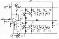 This is the circuit design of Mosfet power amplifier 5200W