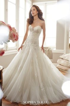 Find your dream wedding dress at Allure Bridal Boutique in Gainesville Florida. Shop for your bridal gown or mother of the bride and mother of the groom dress in an affordable yet upscale atmosphere. Drop Waist Wedding Dress, Wedding Dress Necklines, Wedding Dresses With Straps, Wedding Dresses Photos, Dream Wedding Dresses, Bridal Dresses, Dresses Uk, Allure Bridal, Amazing Wedding Dress