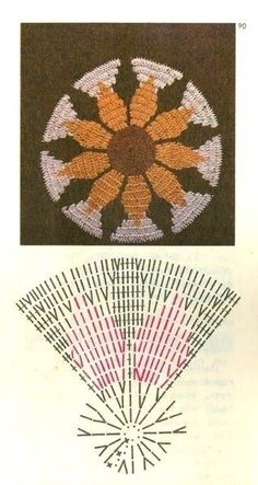 Interesting ideas for decor: Прихватки вязаные крючком Crochet Diagram, Crochet Chart, Filet Crochet, Crochet Motif, Crochet Doilies, Crochet Flowers, Crochet Stitches, Knit Crochet, Crochet Circles