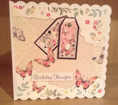 Handmade ladies birthday card using wishes on wings free gift from hunkydory