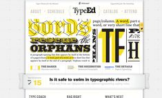 TypeEd is an educational program that teaches the fundamentals of typography. Their blog, Rag Right, is a resource for good typography, lettering and design.