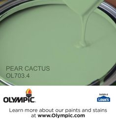 PEAR CACTUS OL703.4 is a part of the greens collection by Olympic® Paint.