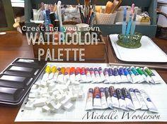 diy watercolor palette