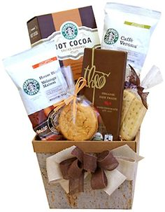 Cocoa and Coffee Inspired by warm conversation and rich friendships, our Starbucks coffee and cocoa classic is a perfect gift for a multitude of occasions. Coffee Gift Baskets, Mother's Day Gift Baskets, Coffee Gifts, Blended Coffee, Starbucks Coffee, Coffee Snobs, Beautiful Gifts, Food Gifts, Gourmet Recipes