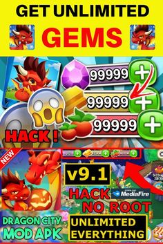 This Dragon City MOD Apk is having unlimited money which will help you to enjoy all features of this amazing android game. Train your little creatures for the biggest battle by showing off their strength in combat with other players. Dragon City Cheats, Dragon City Game, Clash Of Clans Hack, Clash Clans, City Generator, Legendary Dragons, Legend Games, Big Battle, Kings Game