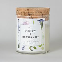 Poured in Brooklyn, New York, this botanically blended candle beautifully burns with a wooden wick and a strongly scented soy wax blend. It burns bright for 60+ hours and is scented with fruity notes