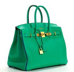 ef67ecaf095a Hermès Menthe Togo and Bleu Electrique Birkin Hermes Box