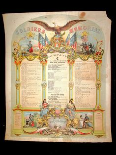 1863 Civil War Memorial Broadside 81st NY Co C Presented Capt to Colonel Signed