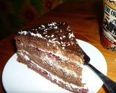 Chocolate cake with cottage cheese cream