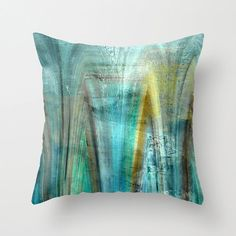 Hey, I found this really awesome Etsy listing at https://www.etsy.com/listing/212706044/abstract-throw-pillow-teal-gold