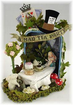 Trash to Treasure Art: Alices Tea Party- Altered Altoid Tin - by Lynn Stevens