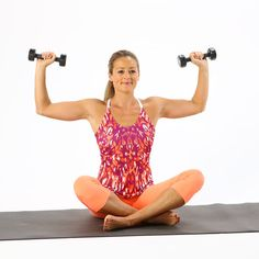 Feel the Burn: 5 Low-Weight Arm Exercises We all want those arms that don't flap in the wind when we're waving hello, right? These five exercises with light weights make it look easy, but the small isometric moves ensure you feel the burn. Grab your two- or three-pound dumbbells and get going, but don't worry if you don't have weights — you can even do them without for some excellent toning.Source: POPSUGAR Studios
