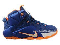 Officiel Nike Lebron 12/XII - Chaussures Nike Pas Cher Pour Homme Bleu/Jaune 684493-012