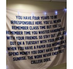 College Tapestry Dorm Room Funny