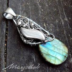 Labradorite wire wrapped pendant by margotkab.deviantart.com on @DeviantArt