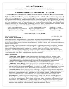 resume sample of a business analyst with a verifiable track record of managing complex it projects - Sample Resume Business Analyst