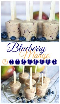 Blueberry Mango Popsicles - an easy whole-fruit summer time treat!