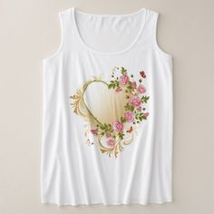Victorian Heart Plus-Size Tank Top - valentines day gifts love couple diy personalize for her for him girlfriend boyfriend