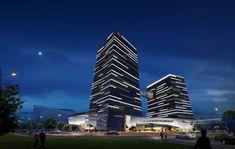 中國信託總部大樓/原碩照明設計顧問有限公司 Facade Lighting, Linear Lighting, Outdoor Lighting, Lighting Design, Building Elevation, Facade Architecture, Skyscraper, Multi Story Building, Light Design