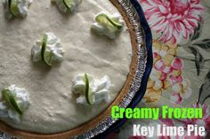 Mommy's Kitchen: Creamy Frozen Key Lime Pie {No Bake}
