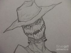 Scary Scarecrow Drawings | ... : Scary Drawings , Scary Scarecrow Art , Evil Scarecrow Drawings