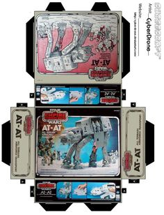 Mini AT-AT Toy Box by CyberDrone.deviantart.com on @deviantART